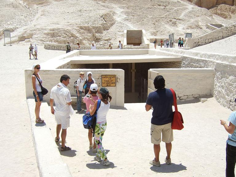 The entryway to Tut's tomb