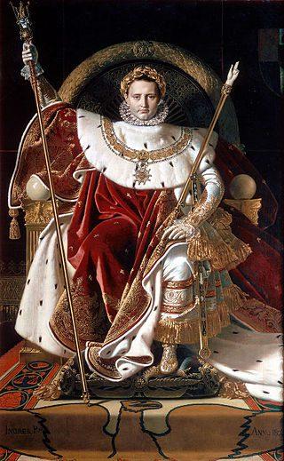 Enthroned Bonaparte, by Ingres