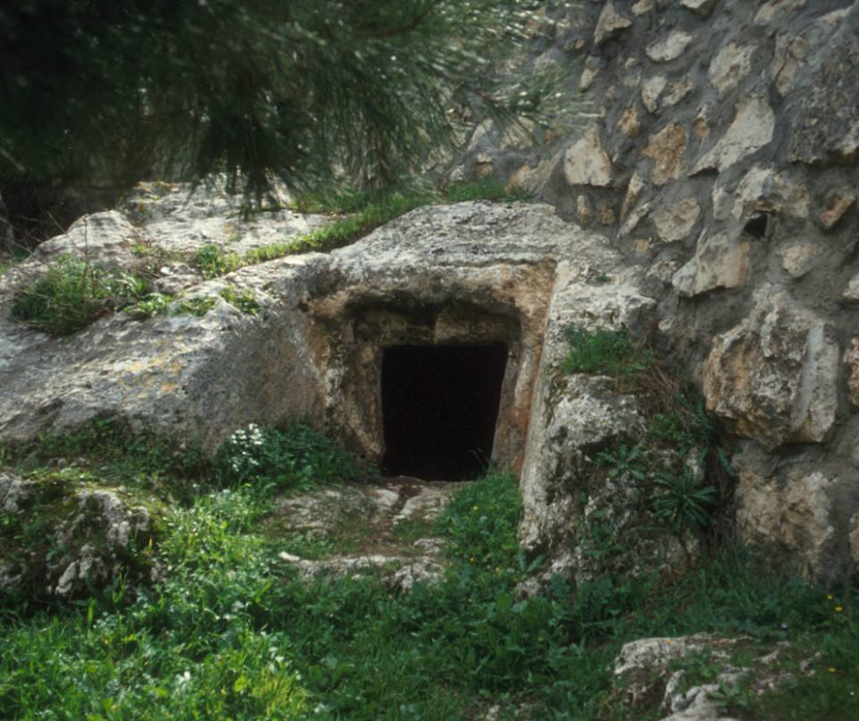 An empty Herodian tomb in Jerusalem