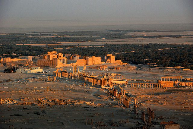 Palmyra in the sunset
