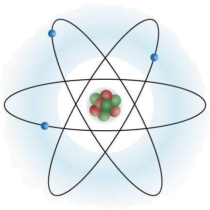 An atom, in color
