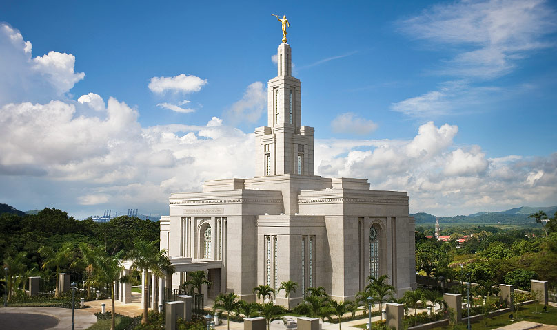 The temple by the Panama Canal