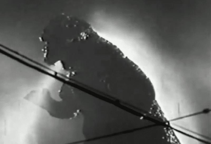 Godzilla recharging his batteries