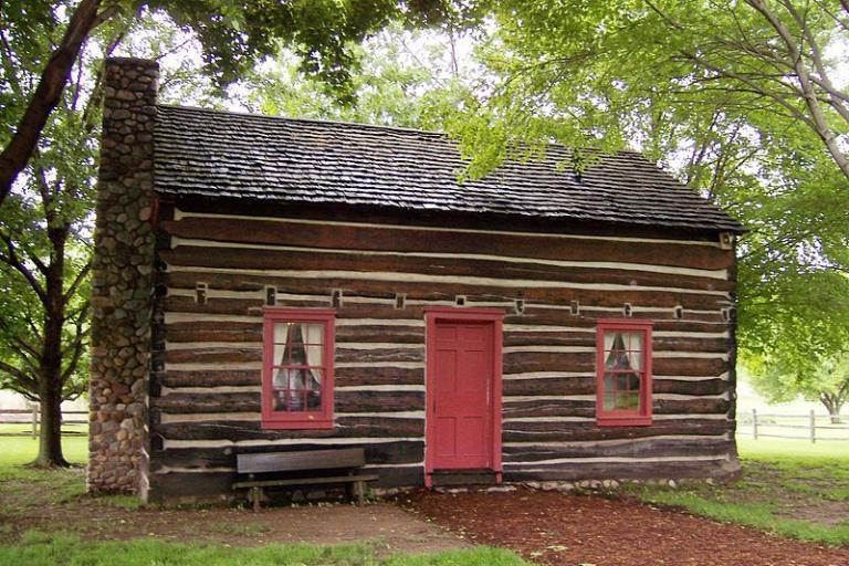 Whitmer family log cabin, rebuilt