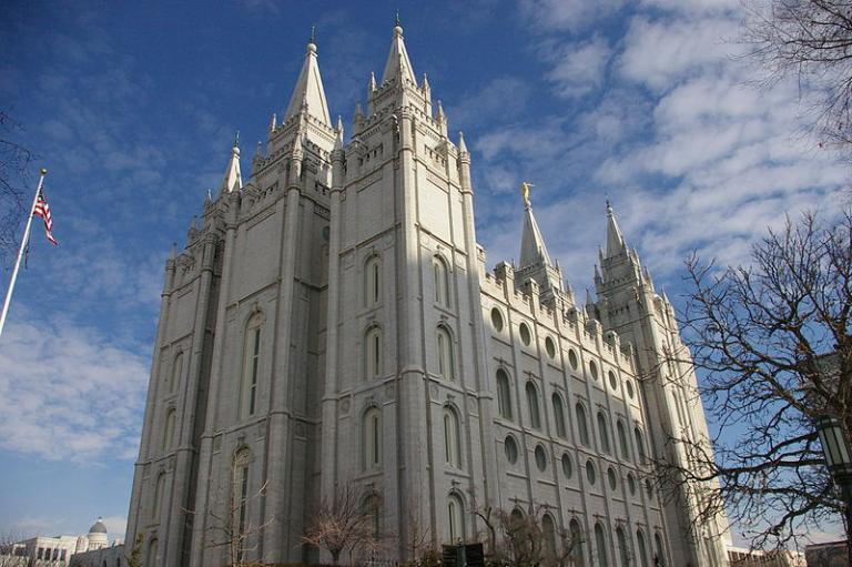 The great temple in Salt Lake City