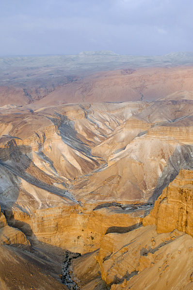 Judean desert from above