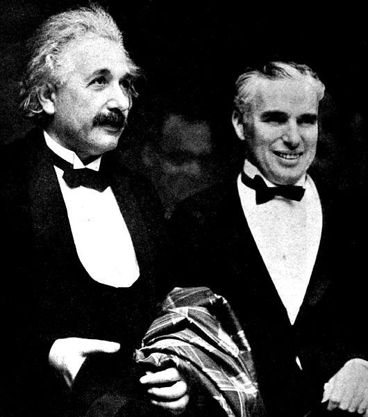 Einstein and Chaplain in LA