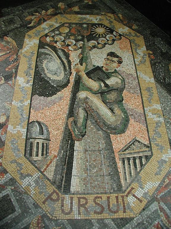 Sir Fred Hoyle in a mosaic