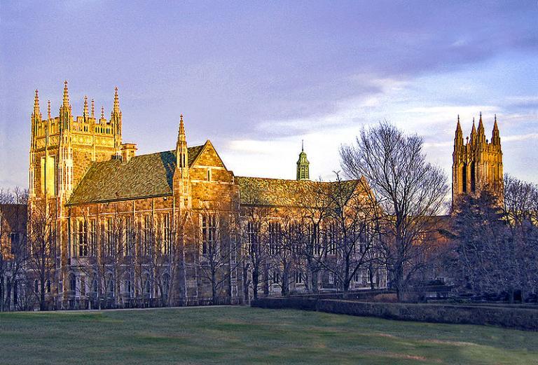 Boston College sunset