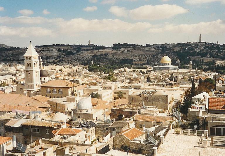 Jerusalem on a partly cloudy day