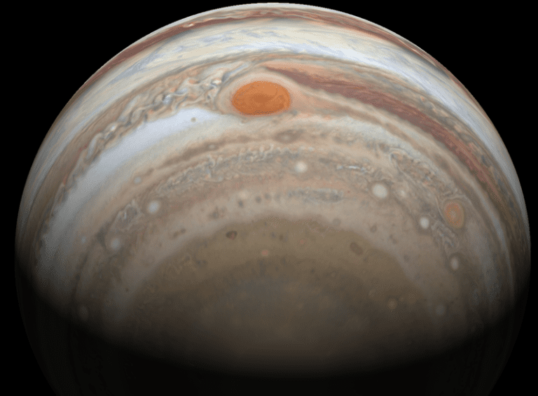 Jupiter, as seen by the Hubble telescope