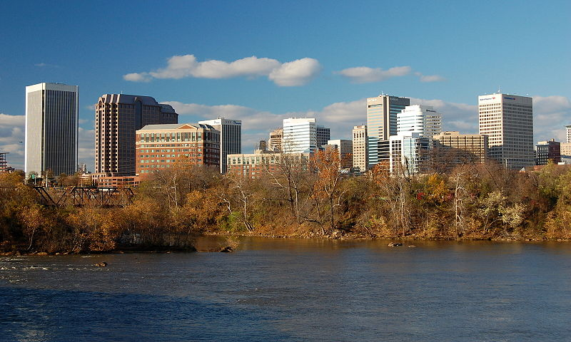 Richmond VA from the James River