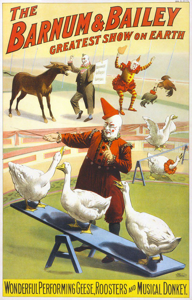 A Barnum and Bailey circus poster