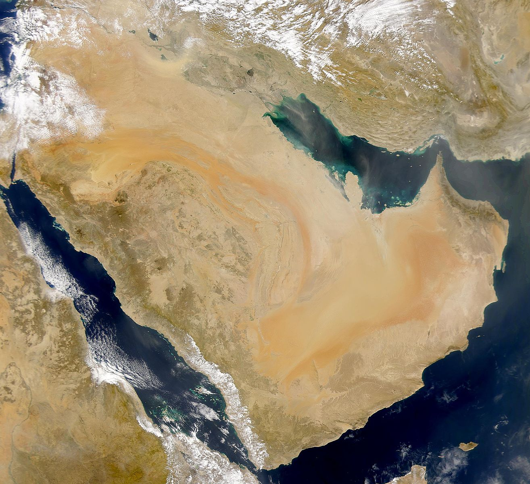 NASA does the Arabian Peninsula