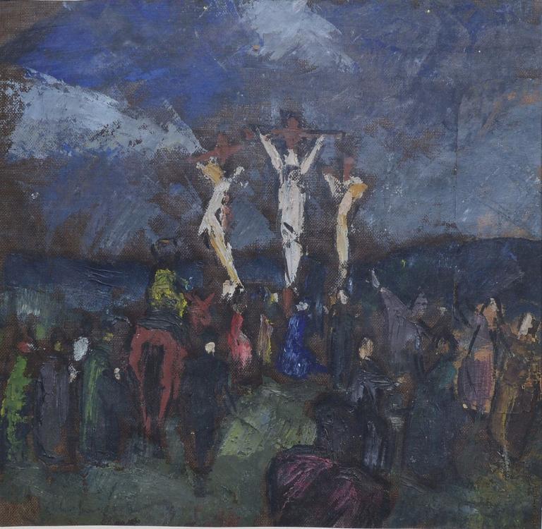 Hungarian crucifixion painting