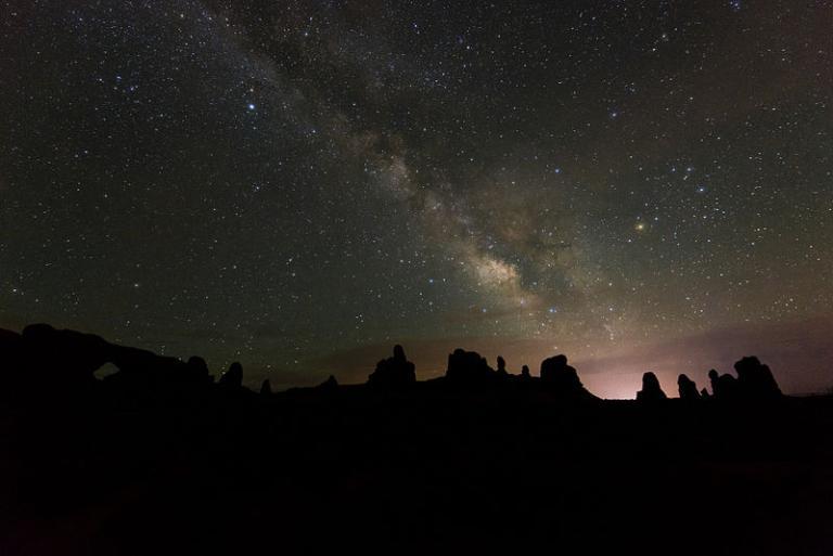 Night above the Utah desert
