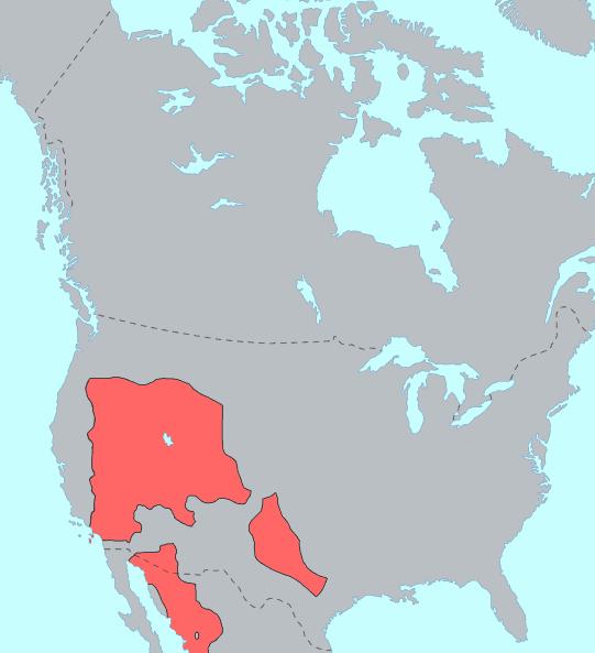Uto-Aztecan language distribution before Columbus