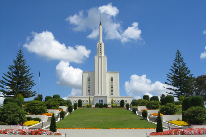 The temple in New Zealand