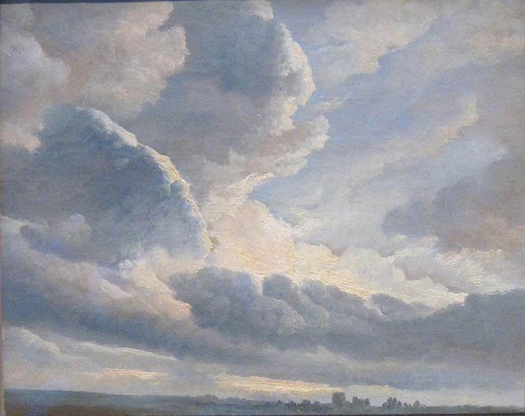 Clouds near Rome at the end of the eighteenth century