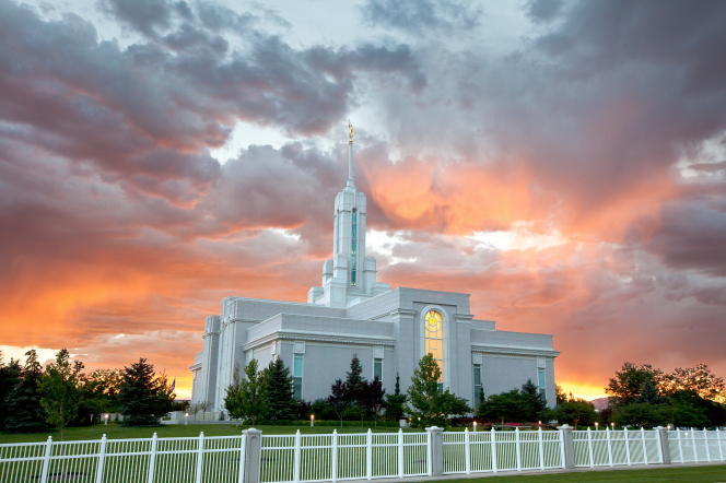 The second temple in Utah Valley, in American Fork