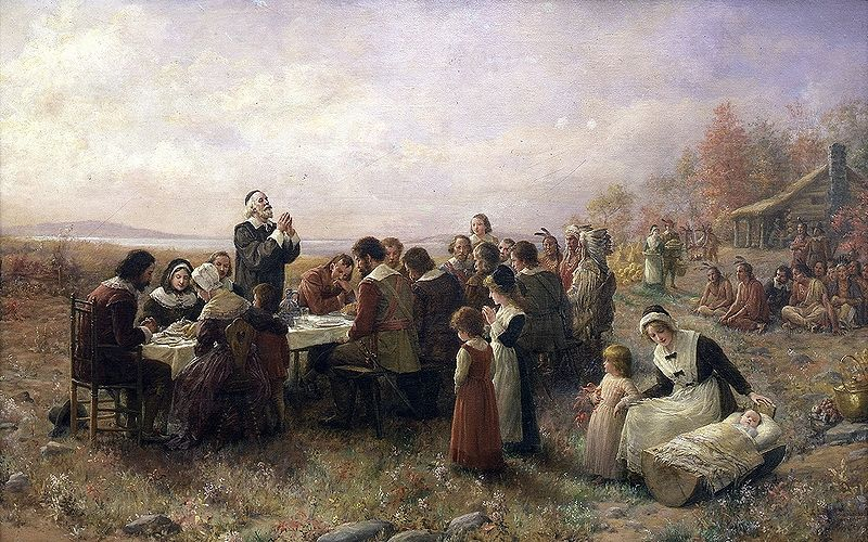 An early twentieth century painting of Thanksgiving
