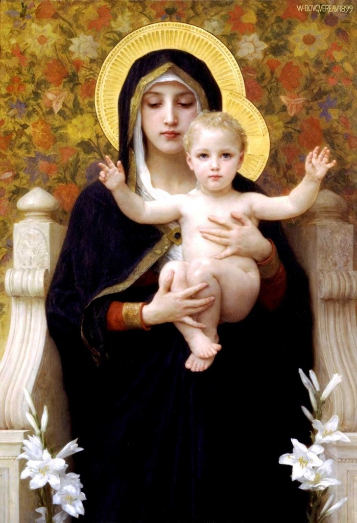 A French academic painting of the Madonna and Child