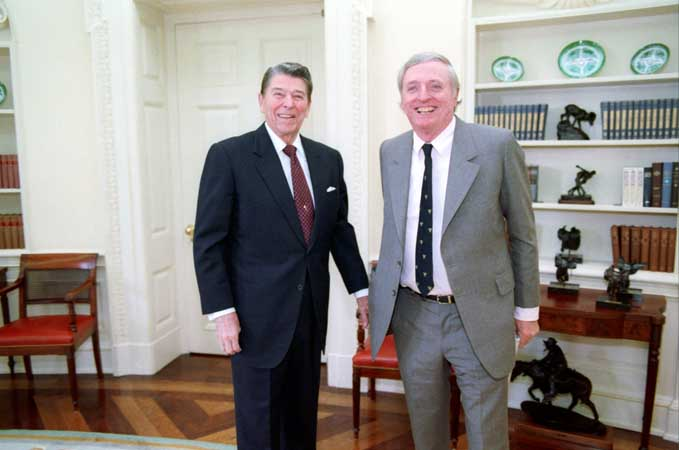 Reagan and Buckley in the White House