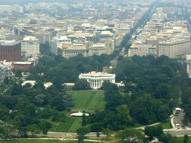 White House, seen from Washington Monument