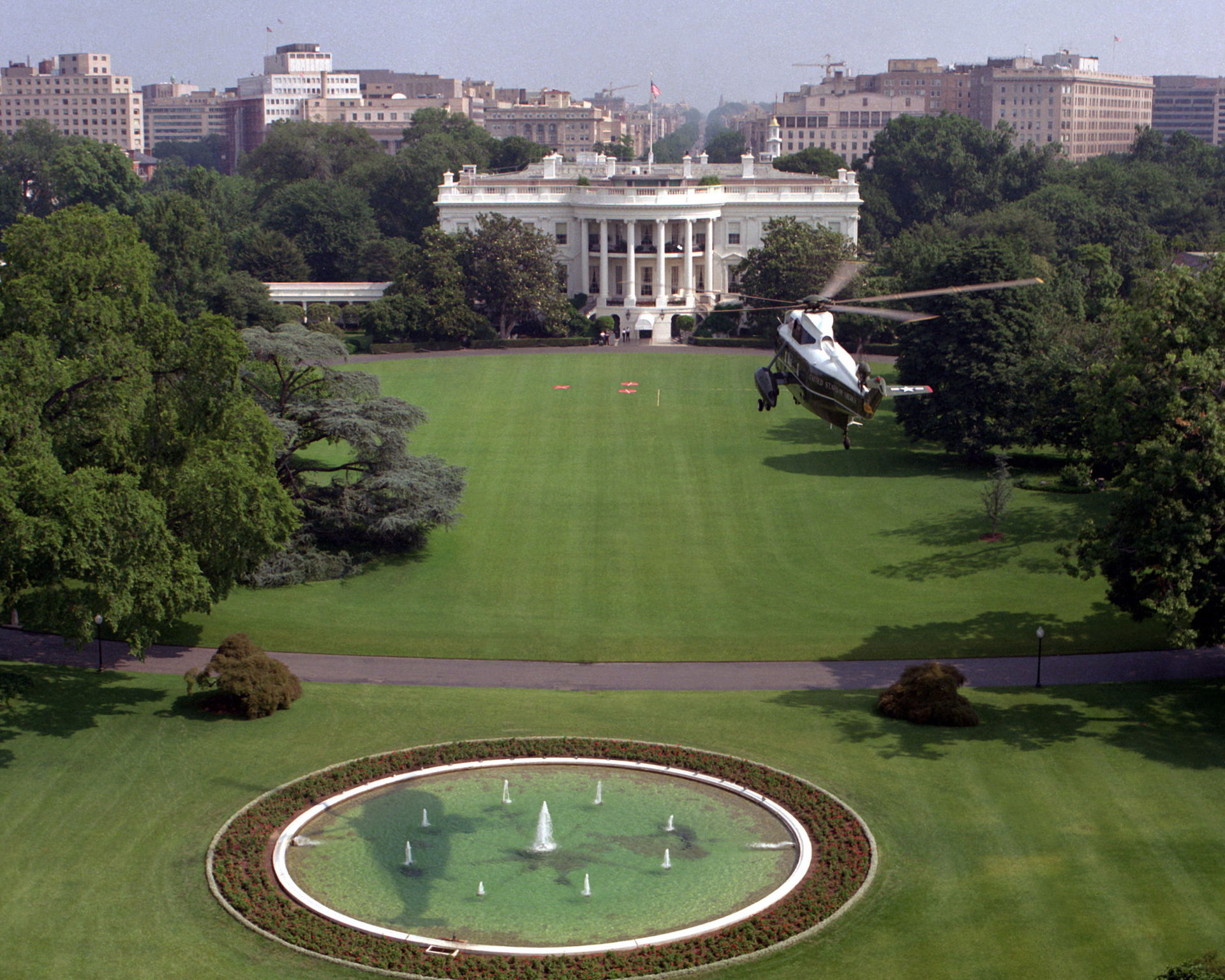 The White House and Marine One