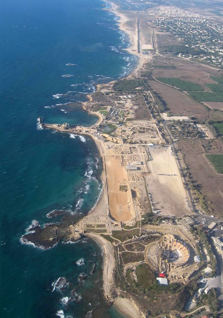 Caesarea Marítima on the Mediterranean Sea