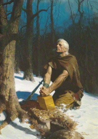 Tom Lovell's Moroni with the plates
