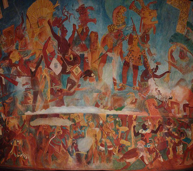 Bonampak mural war scene