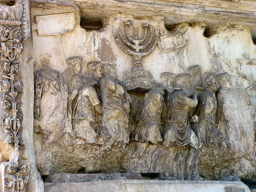 Detail of the Arch of Titus in Rome