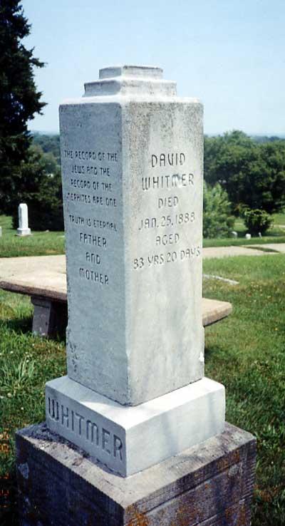 Denardo David Whitmer grave marker