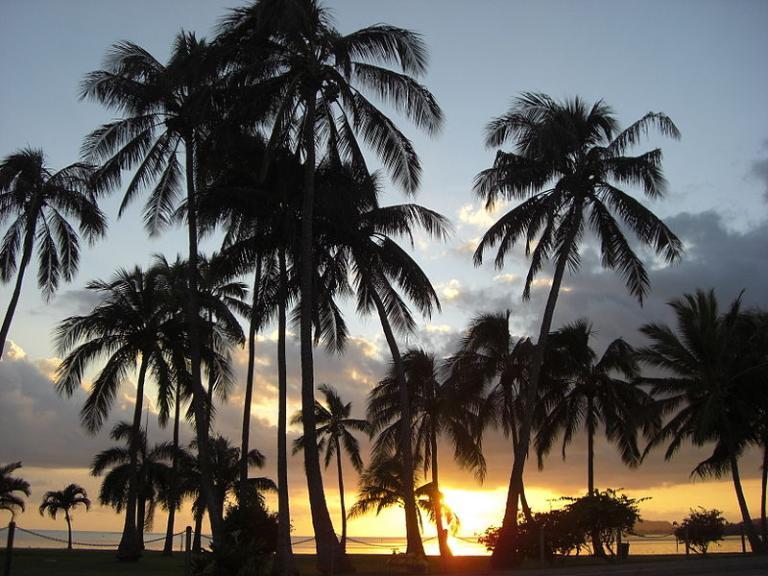 Delso photo of Waikiki at sunset