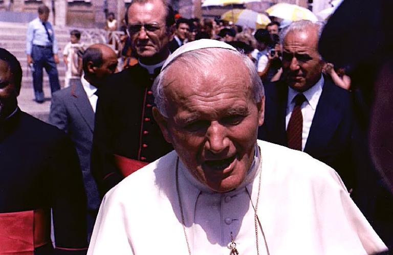 John Paul II the Great, in roughly the seventh year of his pontificate