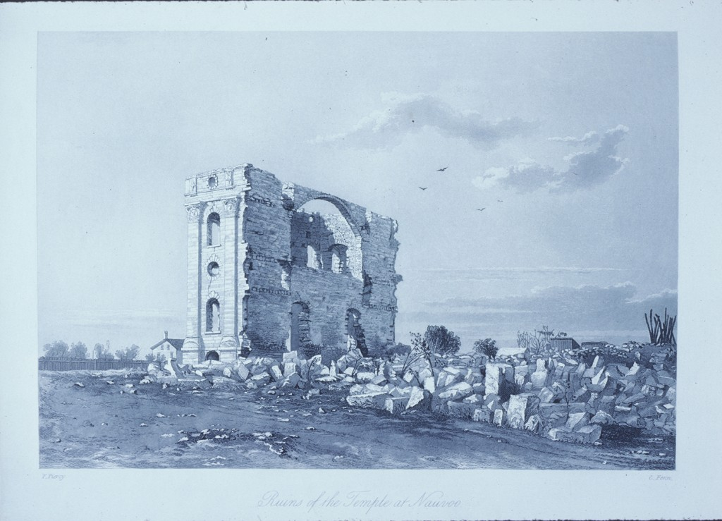 Piercy in Nauvoo, with ruins