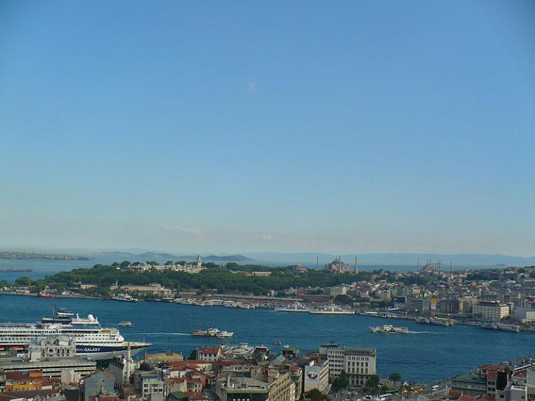 Old Istanbul across the blue