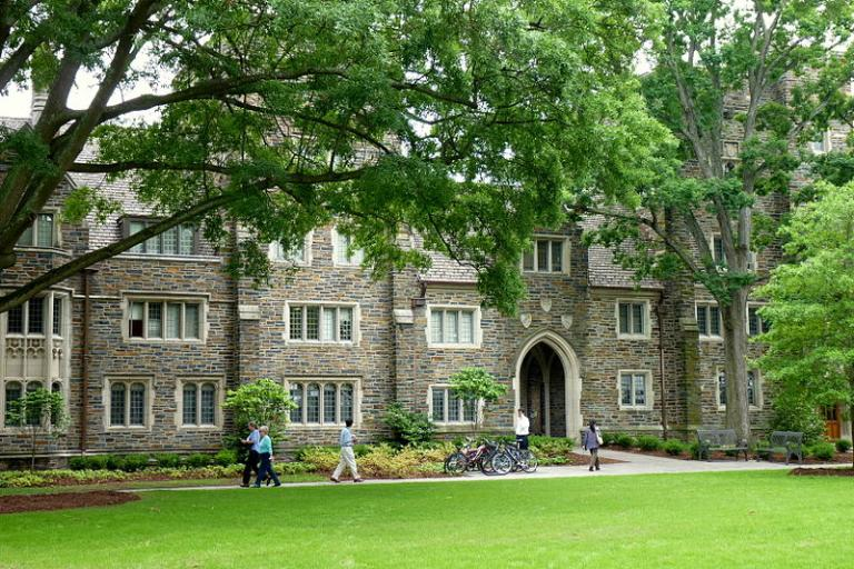 A Duke campus scene