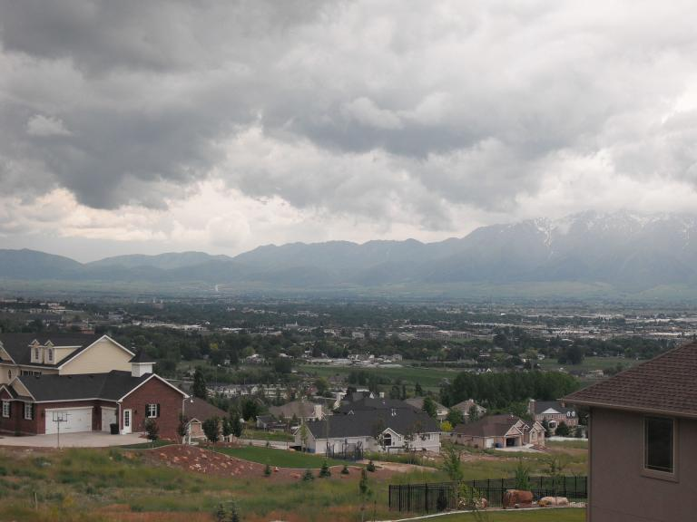 Clouds over Cache Valley