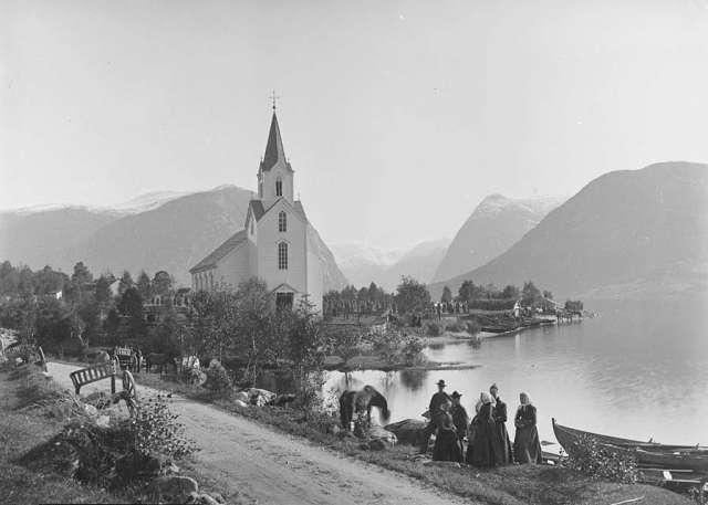The church at Helgheim.