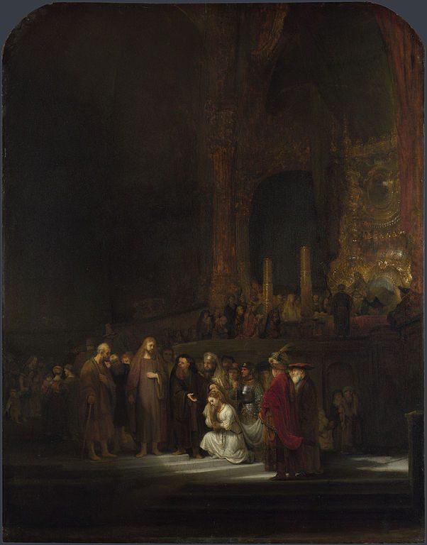 Rembrandt van Rijn painting of an NT scene