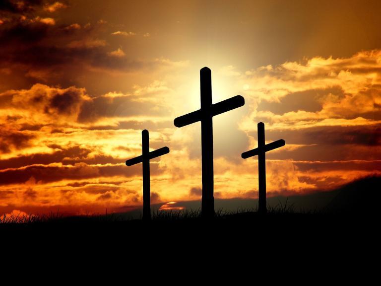 Three unadorned crosses