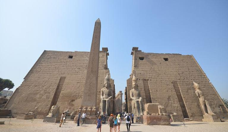 The outer pylons of the Luxor Temple
