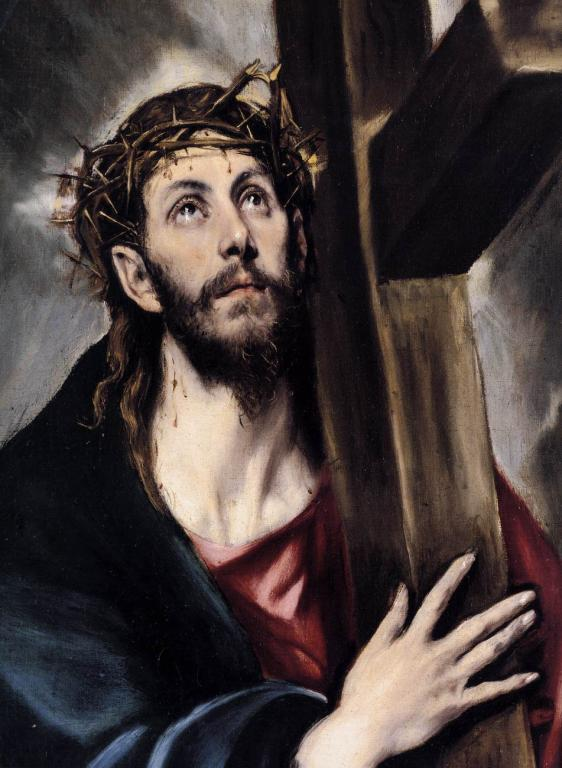 Jesus with crown of thorns, by El Greco