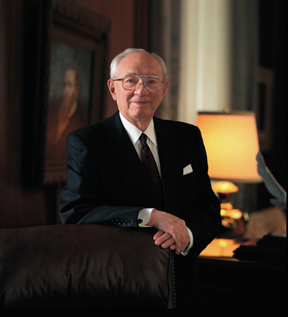 An official portrait of President Hinckley