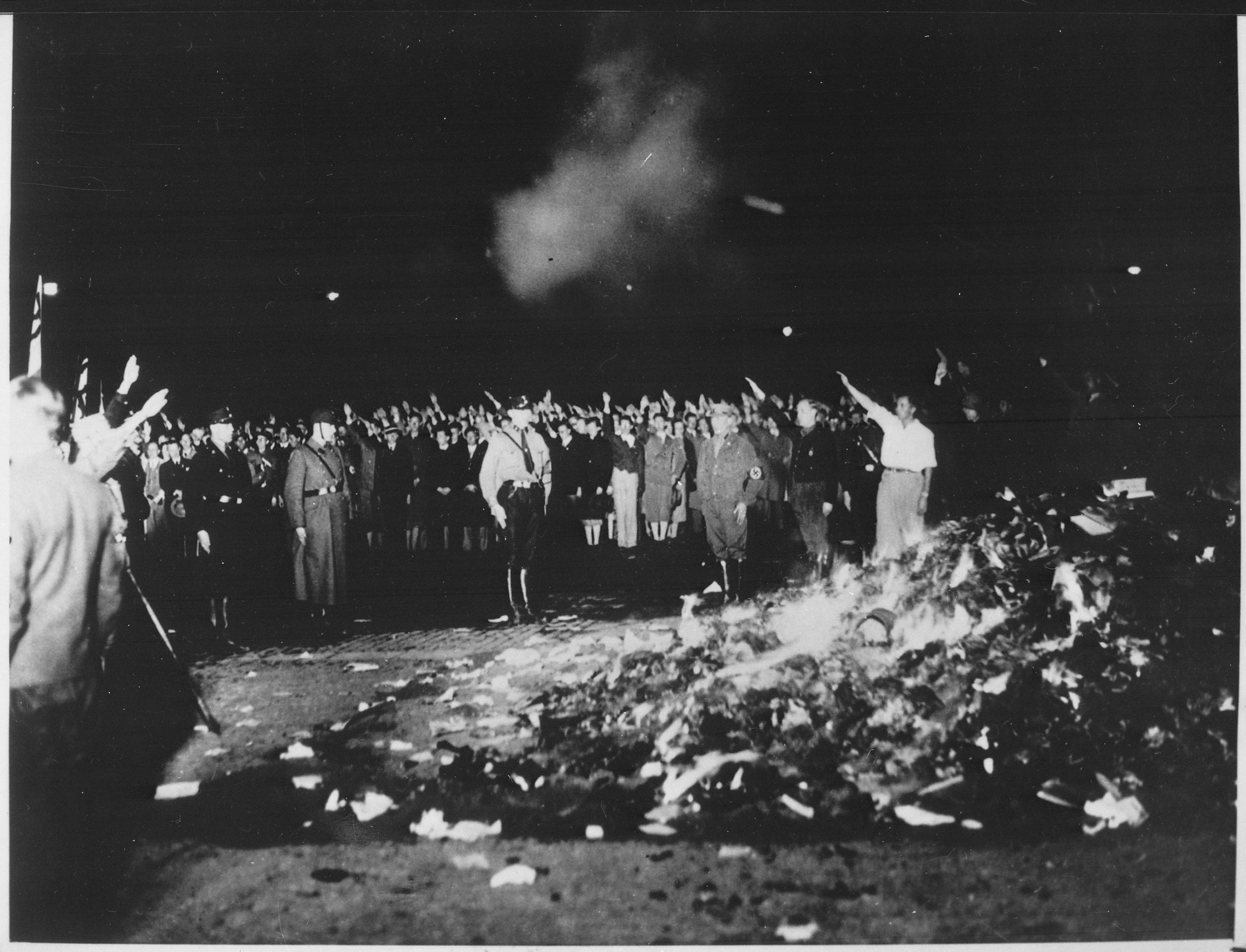 A Nazi book-burning