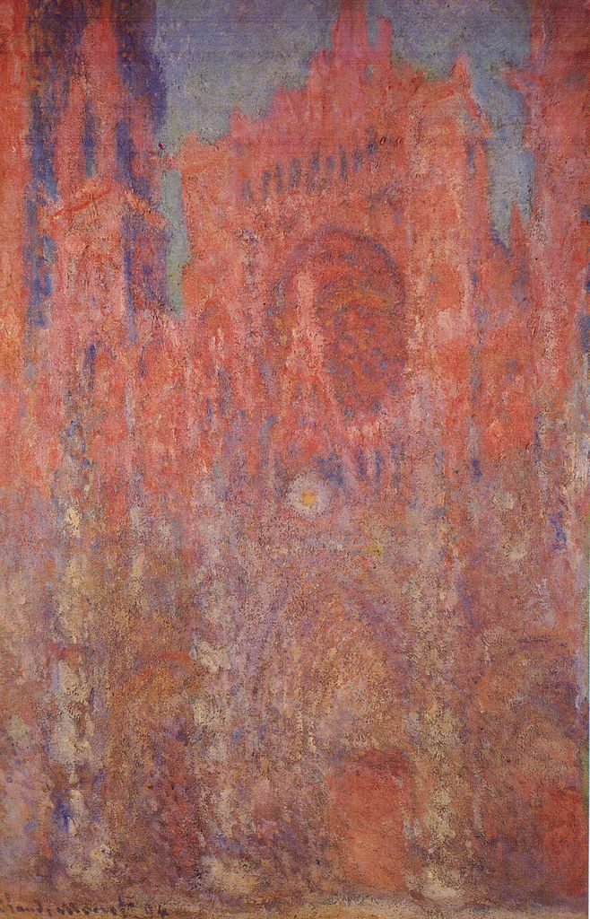 Monet's reddish Rouen Cathedral