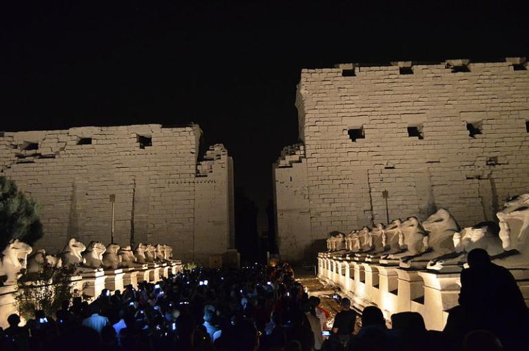 Karnak entrance by night