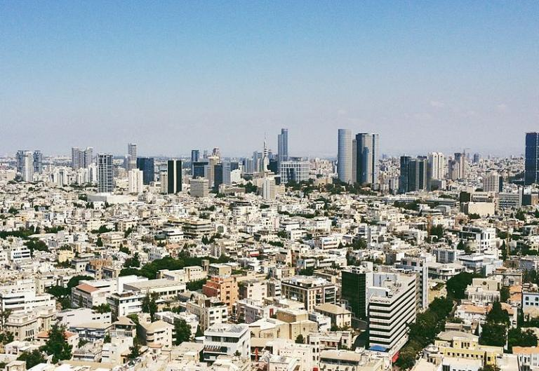 The Tel Aviv skyline during the day.